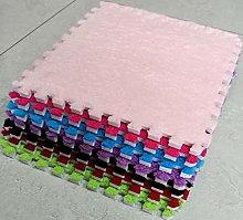 10 x EVA Foam Rug Tile (Pink) Soft Interlocking