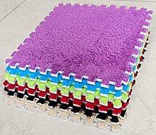 10 x EVA Foam Rug Tile (Purple) Soft Interlocking