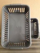 10 x GREY/SILVER - Whitefurze Handy Basket Storage