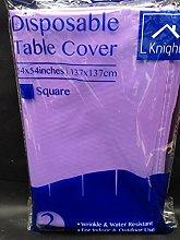 10 x lilac plastic tablecover - 137cm x 137cm