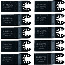 10 x Oscillating BIM 34mm x 40mm Plunge Cut Multi
