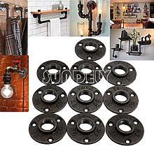 10 X SUNDELY® BSP Flange Malleable Cast Iron Pipe
