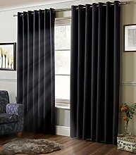 100% Blackout Coated Thermal Plain Curtains Ring