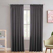 100% Blackout Curtains 2 Panels Set Thermal