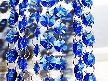 100 Blue 14mm Octagon Chandelier Drops Light Parts