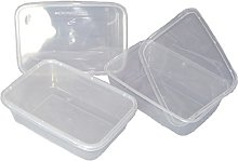 100 Clear Plastic 500ml Microwave/Freezer Safe