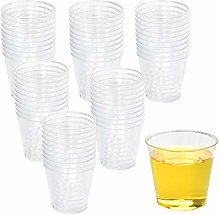 100 Clear Plastic Cups Drinking Cups, Reusable