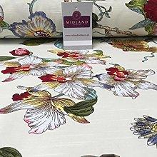 100% Cotton Canvas Cream Japanese Blossom Printed