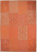 100% Cotton Handmade Flat Pile Rug Patchwork