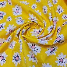 100% Cotton Poplin Daisy Flower Print Fabric Dress