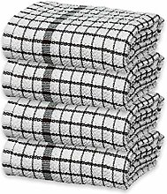 100% Egyptian Cotton Terry Tea Towels Waffle Weave