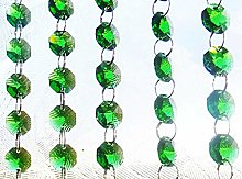 100 Emerald Green 14mm Octagon Chandelier Drops