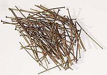 100 Headed Pins 38mm / 1.5 inch Long 0.8mm Thick