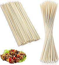 100 Jumbo Skewers Sticks Bamboo 12 Inch Wooden
