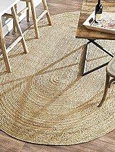 100% Jute Large oval rug, 150x215cm. Natural