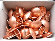 100 Large Copper on Steel Upholstery Nails - 20mm