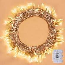 100 LED Outdoor Fairy Lights, with Timer Programs,