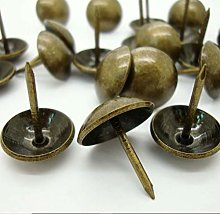 100 Pieces Upholstery Nails Tacks Push Pins Round