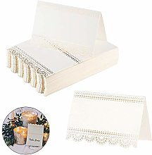 100 Place Cards MIZOMOR Small Tent Cards Foldover