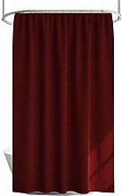 100% Polyester Fabric Shower Curtain with 12