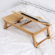 100% Portable Bamboo Lapdesks Lazy Bed Table
