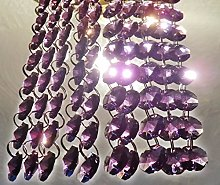 100 Purple 14mm Octagon Chandelier Drops Light