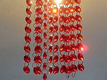 100 Red 14mm Octagon Chandelier Drops Light Parts