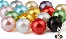 100 Sets 8MM Mixed Color Pearl Rivet Studs for