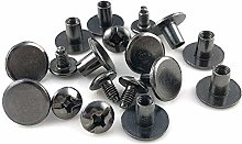 100 Sets Round Flat Head Chicago Screws Buttons