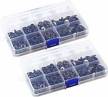 100 Sets Snap Fasteners Kit, Metal Clothing Snaps