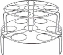 100% Stainless Steel Egg Steaming Rack, Suitable
