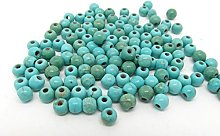 100 Turquoise Beads 4mm Reconstitued Dyed and