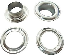 100 x 12mm Silver Eyelets & Washers Grommets for