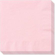 100 x 2ply Rose Pink Paper Napkins Serviettes 33cm