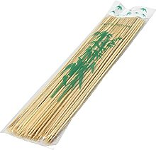 100 x 30cm Wooden Bamboo Skewers for BBQ Kebabs,