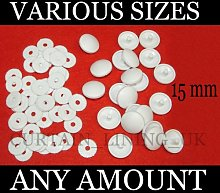 100 x Plastic Self Cover Buttons 15mm