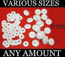 100 x Plastic Self Cover Buttons 18mm