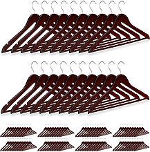 100 x Wooden Coat Hanger, Clothes Hangers for