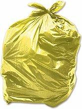 100 x Yellow 90L Medium-Duty (28 Micron / 112