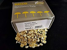 1000 brass plated upholstery nails GENUINE HEICO