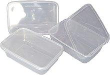 1000 Clear Plastic 500ml Microwave/Freezer Safe