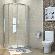 1000 x 1000 mm offset Quadrant Shower Enclosure