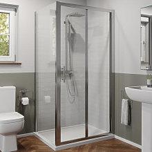 1000 x 700mm Bi-fold Shower Door & Side Panel