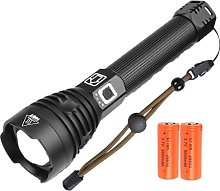 100000 Lumens LED Torch USB Rechargeable, XHP90