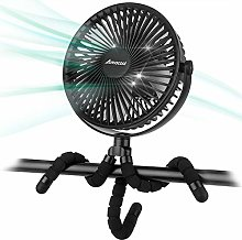10000mAh 7 inch Battery Operated Clip On Fan