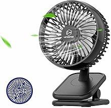 10000mAh Rechargeable Clip on Fan, 6 Inch Battery