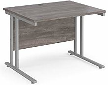 1000mm Straight Office Desk Grey Oak