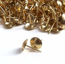 1000x Brass Decorative Upholstery Nails - 10mm