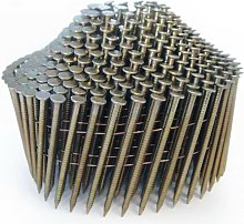 1004 2.1 x 38mm Bright Ring Conical Top Coil Nails