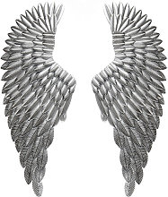100cm Silver Wall Mounted Iron Wings